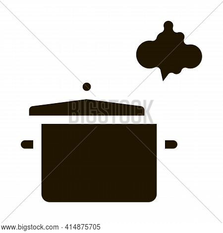 Cooking Odor Glyph Icon Vector. Cooking Odor Sign. Isolated Symbol Illustration