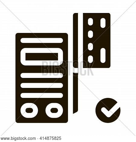 Card Pos Terminal Glyph Icon Vector. Card Pos Terminal Sign. Isolated Symbol Illustration