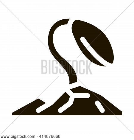 Soy Growth Glyph Icon Vector. Soy Growth Sign. Isolated Symbol Illustration
