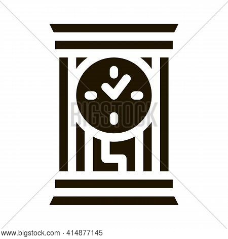 Domestic Watch Glyph Icon Vector. Domestic Watch Sign. Isolated Symbol Illustration