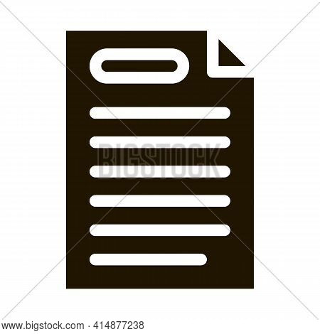 Webshop Agreement Glyph Icon Vector. Webshop Agreement Sign. Isolated Symbol Illustration