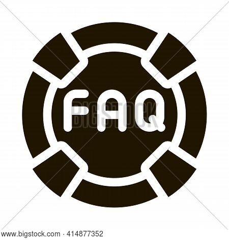 Webshop Faq Glyph Icon Vector. Webshop Faq Sign. Isolated Symbol Illustration