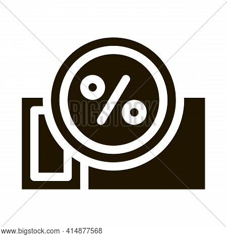 Webshop Coupon Glyph Icon Vector. Webshop Coupon Sign. Isolated Symbol Illustration