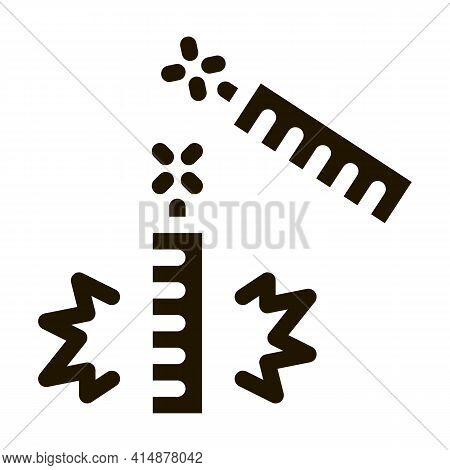 Explosive Firework Glyph Icon Vector. Explosive Firework Sign. Isolated Symbol Illustration