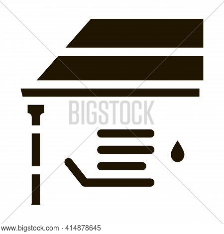 Roof Gutter System Glyph Icon Vector. Roof Gutter System Sign. Isolated Symbol Illustration