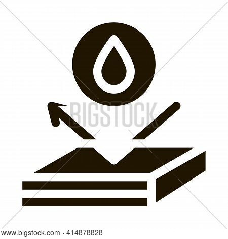 Waterproof Roof Glyph Icon Vector. Waterproof Roof Sign. Isolated Symbol Illustration