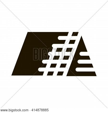 Roof Building Exterior Glyph Icon Vector. Roof Building Exterior Sign. Isolated Symbol Illustration