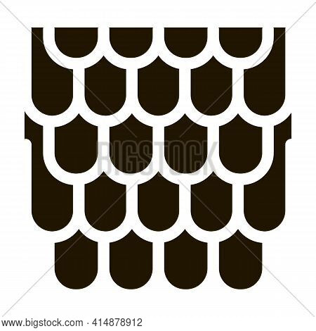 Shingles Roof Glyph Icon Vector. Shingles Roof Sign. Isolated Symbol Illustration