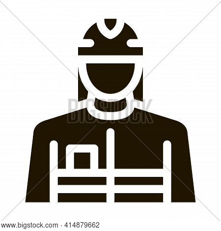 Fireman Profession Glyph Icon Vector. Fireman Profession Sign. Isolated Symbol Illustration