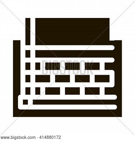 Prefabricated Foundation Glyph Icon Vector. Prefabricated Foundation Sign. Isolated Symbol Illustrat