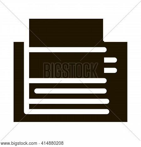 Floating Foundation Glyph Icon Vector. Floating Foundation Sign. Isolated Symbol Illustration
