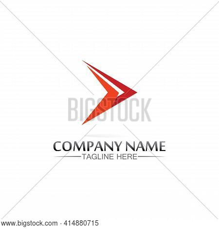 Arrow Logo  Design Vector For Music, Media, Play, Digital Audio And Speed, Finance, Business Templat