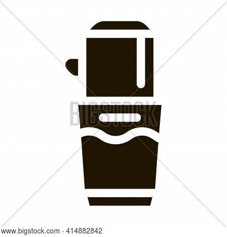 Coffee Grinder Machine Glyph Icon Vector. Coffee Grinder Machine Sign. Isolated Symbol Illustration