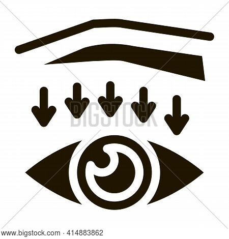Eyebrow Up Surgery Glyph Icon Vector. Eyebrow Up Surgery Sign. Isolated Symbol Illustration