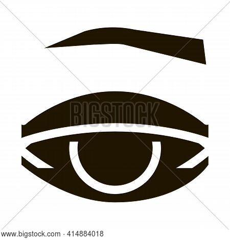 Eyelid Medical Problem Glyph Icon Vector. Eyelid Medical Problem Sign. Isolated Symbol Illustration
