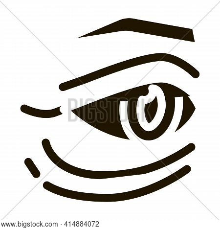 Bags Under Eyes Glyph Icon Vector. Bags Under Eyes Sign. Isolated Symbol Illustration