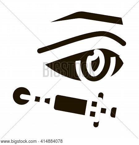 Eyelid Surgery Anesthesia Glyph Icon Vector. Eyelid Surgery Anesthesia Sign. Isolated Symbol Illustr