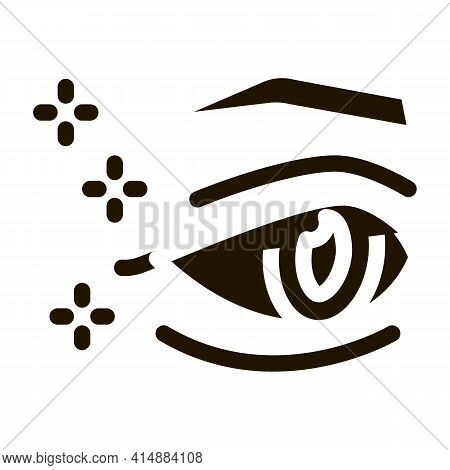 Eyelid Surgery Result Glyph Icon Vector. Eyelid Surgery Result Sign. Isolated Symbol Illustration