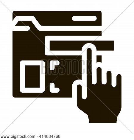 Web Site Elements Dragging Glyph Icon Vector. Web Site Elements Dragging Sign. Isolated Symbol Illus