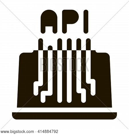 Front End Api Glyph Icon Vector. Front End Api Sign. Isolated Symbol Illustration