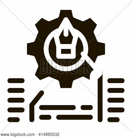 Front End Working And Design Glyph Icon Vector. Front End Working And Design Sign. Isolated Symbol I