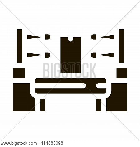 Automation Manufacturing Glyph Icon Vector. Automation Manufacturing Sign. Isolated Symbol Illustrat