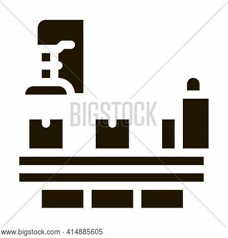 Manufacturing Process Glyph Icon Vector. Manufacturing Process Sign. Isolated Symbol Illustration