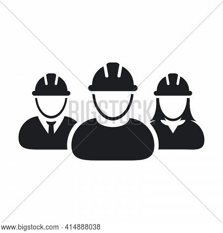 Worker Icon Vector Group Of Construction Contractor People Persons Profile Avatar For Team Work With