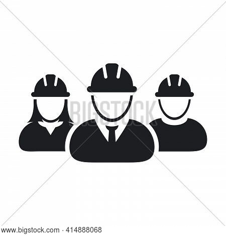Construction Worker Icon Vector Group Of Contractor People Persons Profile Avatar For Team Work With