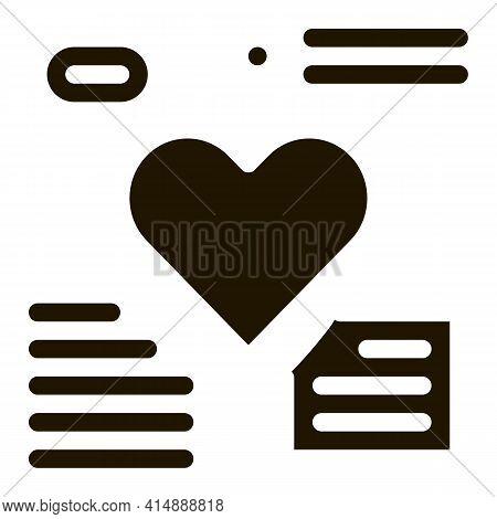 Heart Beat Examination Glyph Icon Vector. Heart Beat Examination Sign. Isolated Symbol Illustration