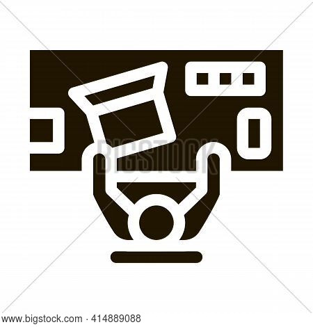 Office Workplace Glyph Icon Vector. Office Workplace Sign. Isolated Symbol Illustration
