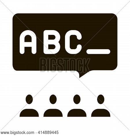 Preschool Education Alphabet Glyph Icon Vector. Preschool Education Alphabet Sign. Isolated Symbol I