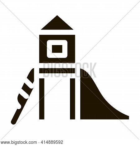 Preschool Playground Glyph Icon Vector. Preschool Playground Sign. Isolated Symbol Illustration