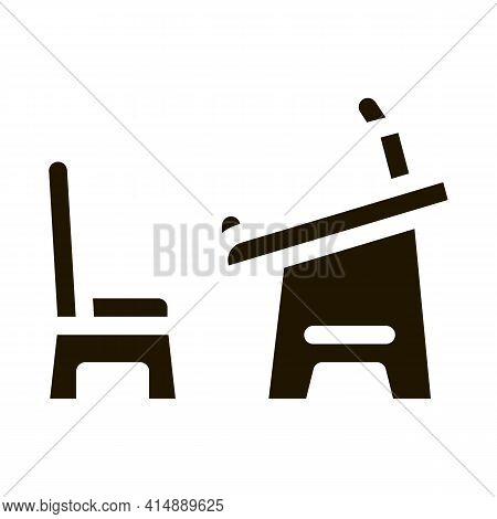 Preschool Education Table Glyph Icon Vector. Preschool Education Table Sign. Isolated Symbol Illustr