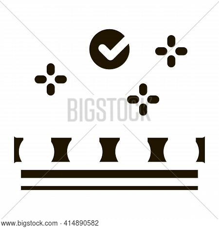 Well Epilated Skin Glyph Icon Vector. Well Epilated Skin Sign. Isolated Symbol Illustration