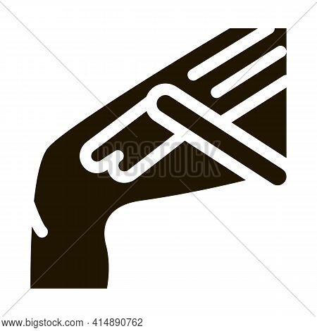 Leg Waxing For Depilation Glyph Icon Vector. Leg Waxing For Depilation Sign. Isolated Symbol Illustr