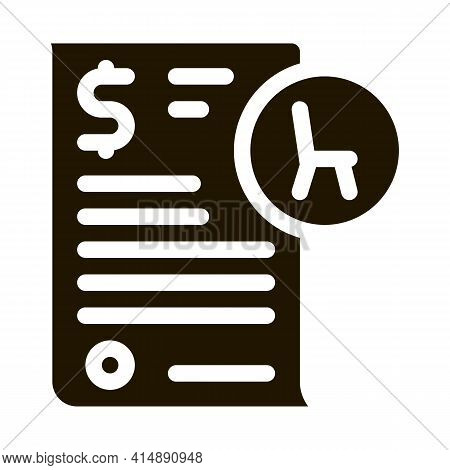 Buying Agreement Glyph Icon Vector. Buying Agreement Sign. Isolated Symbol Illustration