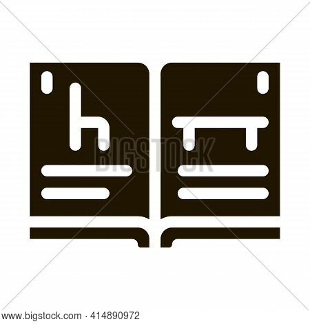 Furniture Catalog Glyph Icon Vector. Furniture Catalog Sign. Isolated Symbol Illustration