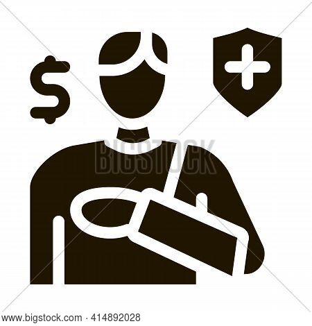 Trauma Insurance Glyph Icon Vector. Trauma Insurance Sign. Isolated Symbol Illustration