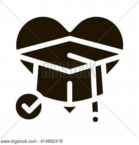 Educational Tolerance Glyph Icon Vector. Educational Tolerance Sign. Isolated Symbol Illustration