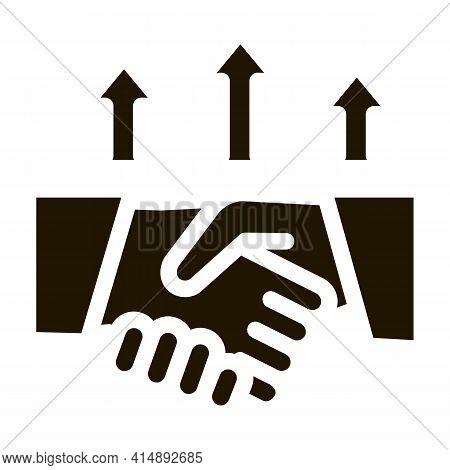 Different Race Handshake Glyph Icon Vector. Different Race Handshake Sign. Isolated Symbol Illustrat
