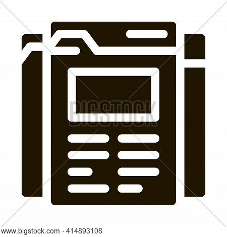 Different Pages Of Web Site Project Glyph Icon Vector. Different Pages Of Web Site Project Sign. Iso
