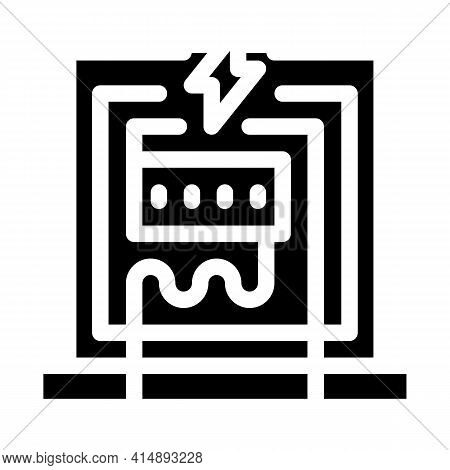Electricity Panel Glyph Icon Vector. Electricity Panel Sign. Isolated Symbol Illustration