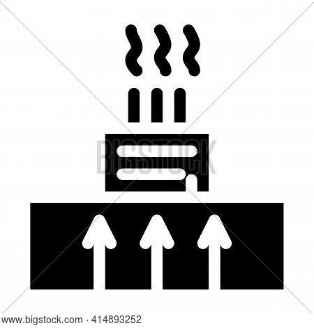 Geothermal Heating Factory Glyph Icon Vector. Geothermal Heating Factory Sign. Isolated Symbol Illus