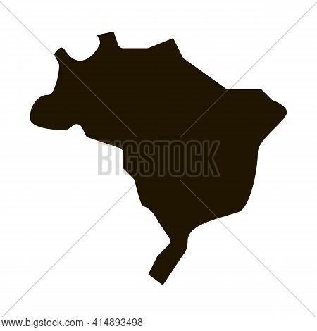 Africa Continent Glyph Icon Vector. Africa Continent Sign. Isolated Symbol Illustration