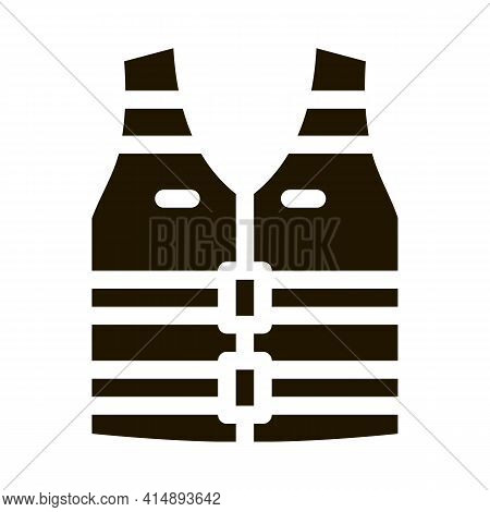 Life Vest Glyph Icon Vector. Life Vest Sign. Isolated Symbol Illustration