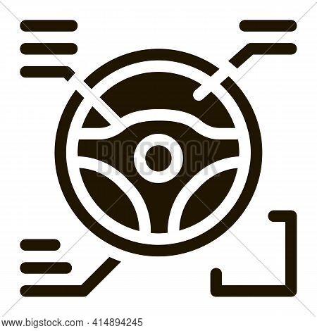 Drive Wheel Characteristics Glyph Icon Vector. Drive Wheel Characteristics Sign. Isolated Symbol Ill