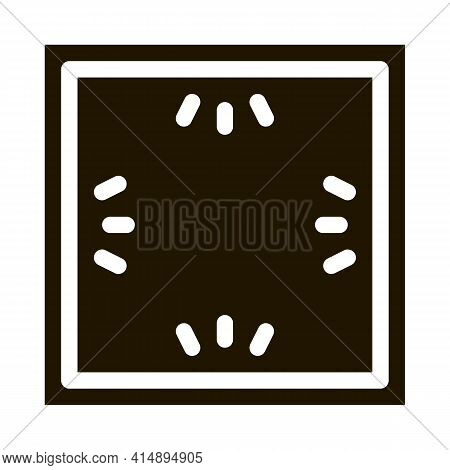 Ceiling Multi Perimeter Lighting Glyph Icon Vector. Ceiling Multi Perimeter Lighting Sign. Isolated