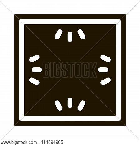 Ceiling Multi Perimeter Lighting Glyph Icon Vector. Ceiling Multi Perimeter Lighting Sign. Isolated