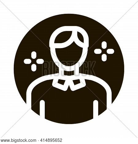 Account Manager Glyph Icon Vector. Account Manager Sign. Isolated Symbol Illustration